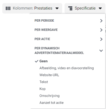 dynamische advertenties analyseren