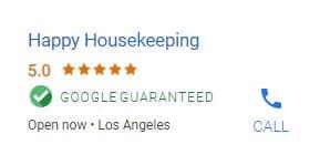 Google guarantee voorbeeld