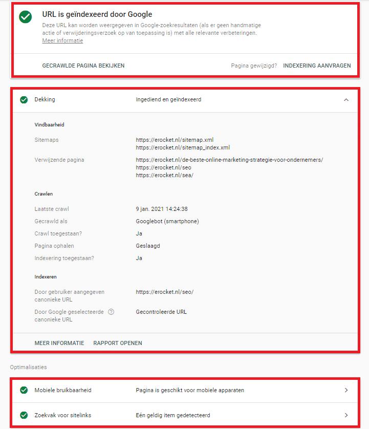 search console url-inspectie