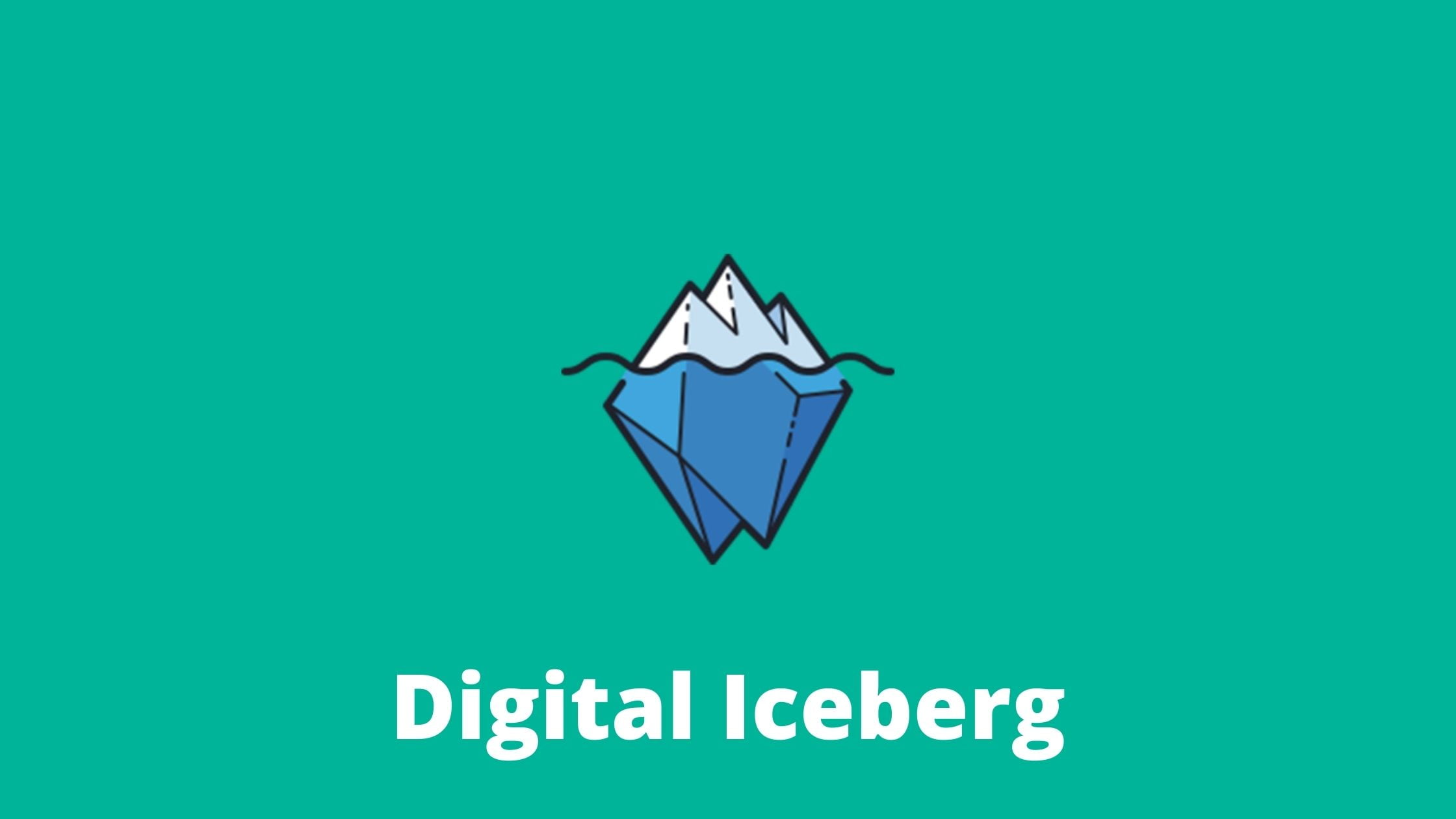 SEO trend 1; digital iceberg